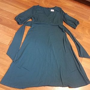 Gap Maternity new blue teal midi dress. Small